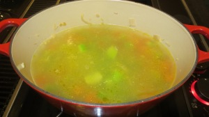 Fill the pot 3/4 full with water (about 6-8 cups)