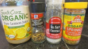 Season with salt, pepper and herbs according to taste.